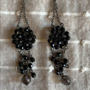 Urban Outfitters Black Crystal-look Dangles